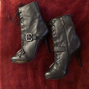 High Heel Leather Boots by Guess